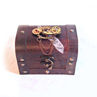 Small Steampunk Treasure Chest