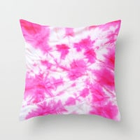 Pink Tie dye Throw Pillow by Lara Johnson | Society6