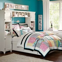 Hampton Storage Bed + Bookcase Tower Bed Set
