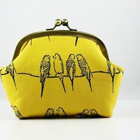 Super Lovely Parakeet Yellow 6 inch Frame Purse by FA2u on Etsy