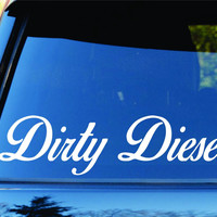 Small Version Dirty Diesel Car Truck Window Decal Sticker