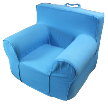 Light Blue Chair Cover for Foam Childrens Chair