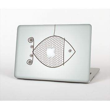 The Simple Vintage Fish on String Skin Set for the Apple MacBook Air 11""