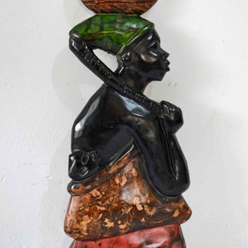 African Art, African American Art, Home Decor, Afrocentric Art, Black Art, Tribal Art, African Woman, Afro Cuban Art, Ethnic Art, Kwaanzaa