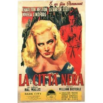 Dark City La Citta Nera Italian Movie poster Metal Sign Wall Art 8in x 12in