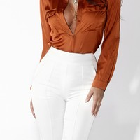 Sunset In the City Silky Blouse