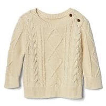 Aran cable knit sweater | Gap