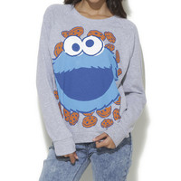 Cookie Monster Sweatshirt - WetSeal