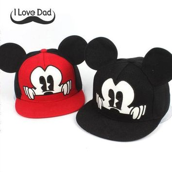 CREYONJ 2017 Hot Mickey ear hats children snapback Caps baseball Cap with ears Funny Hats spring summer hip hop boy hats caps