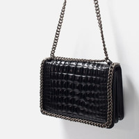 CROC AND CHAIN CITY BAG