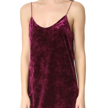 Velour Slip Dress