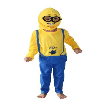 Hot sale!Free shipping Minions Costume, Halloween Costume for Kids, 2-8 Years Boys Disfraces Carnival, Child Clothing Set JP-80
