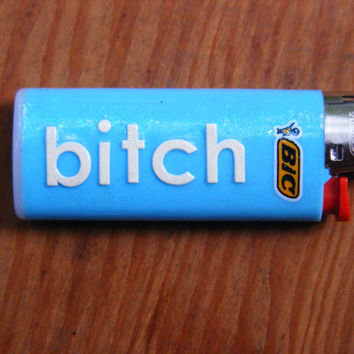 bitch mini blue bic