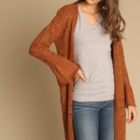 Willow Crochet Longline Cardigan | Threadsence