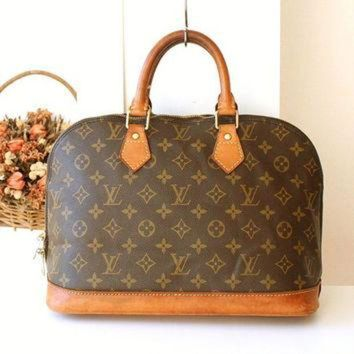 PEAPYD9 Louis Vuitton bag Vintage LV monogramed Purse Louis Vuitton Alma handbag