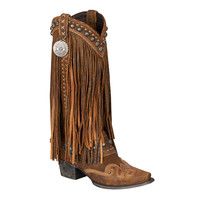 Double D Ranch Boots - Prescott Fringed Boot Rust
