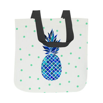 Maritime Pineapple Tote Bag