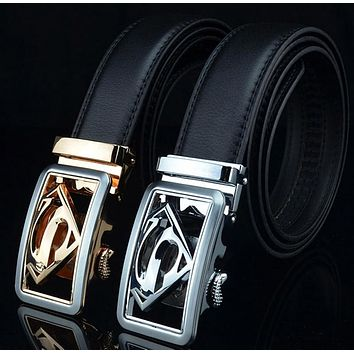 Superman Leather Jeans Belt
