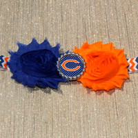 NFL Chicago Bears inspired headband- perfect for football season!  Chicago Bears Baby Headband