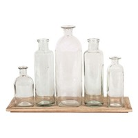 Creative Co-Op 6-Piece Vase & Tray Set | Nordstrom