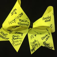 "SMOED Autographed 3"" Grosgrain Cheer Bow"