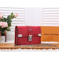 LV Louis Vuitton EPI LEATHER TRUNK INCLINED CHAIN SHOULDER BAG