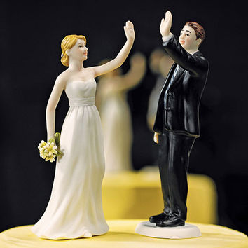 High Five - Bride and Groom Figurines Bride Figurine