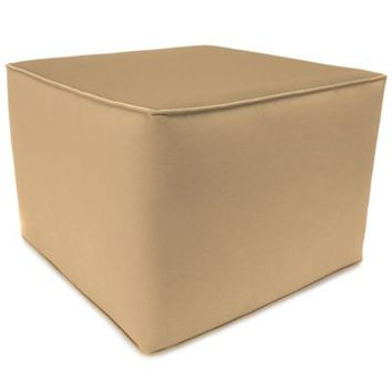SUNBRELLA® Outdoor Square Pouf Ottoman in Canvas