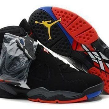 Cheap Air Jordan 8 Retro Black Red White Men Shoes On Sale