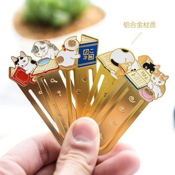 Kawaii School Supplies Funny Bookmarks For Books Cute Paper Clips Music Metal Bookmarker Book Mark Cheap-school-stationery