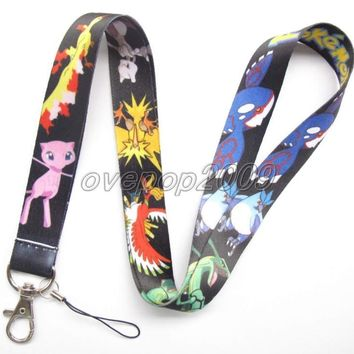 Lot 10Pcs  Pikachu Anime Mobile Cell Phone Lanyard Neck Straps Party Gifts S87Kawaii Pokemon go  AT_89_9