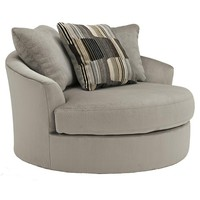 Westen - Granite Contemporary Oversized Swivel Accent Chair by Benchcraft at John V Schultz Furniture