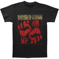 System Of A Down Men's  Fistacuff T-shirt Black Rockabilia