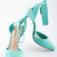 Two to Tango Closed Toe Pumps - Mint