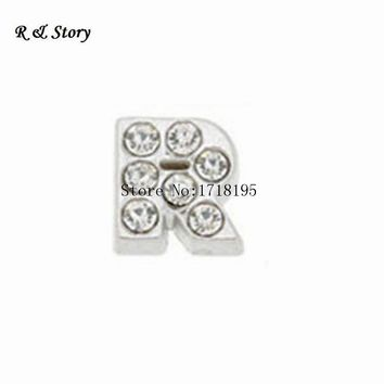 NEW 20pcs/lot Initial Letter R Alphabet Floating Charms For Living Memory Floating Charms LFC019