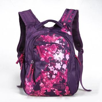 School Backpack GRIZZLY New School Bags High quality Nylon Backpacks for Children Cartoon flowers Prints High Quality Waterproof Nylon Book Bag AT_48_3