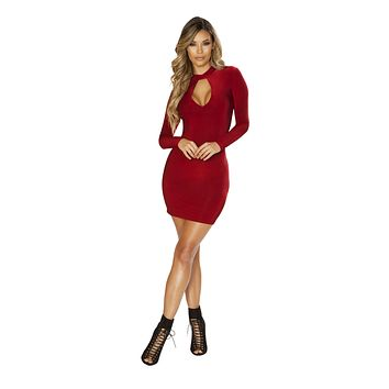 Long Sleeved Dress with Cutout