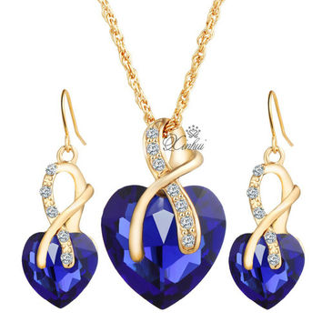 Long Tiantian Trendy Gold Plated Pearl Jewelry Sets For Women A6290