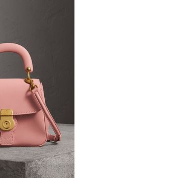 The Small DK88 Top Handle Bag in Ash Rose - Women | Burberry United States