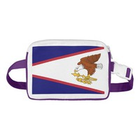 Patriotic Fanny Pack with Flag of American Samoa