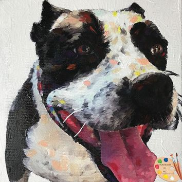 Boxer Dog Painting 518