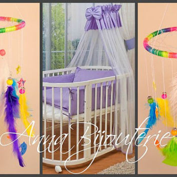 Original Mobile baby room boys girls white baby bed Nursery Mobile newborn baby cute nice gentle dreamcatcher lace handmade exclusive gift