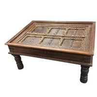 INDIAN Antique Handcarved Haveli Door Table Unique Style COFFEE TABLE Furniture