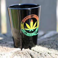 Legalize Cannabis Rasta Shot Glass