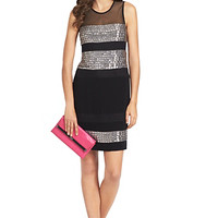 Wally Square Crystal Embellished Dress