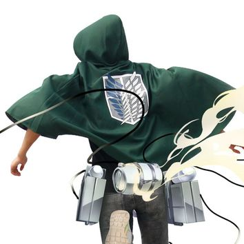 Cool Attack on Titan Japanese Anime  cloak Cosplay Costume no  Cartoon mantle Tee modal Golden Anime tees AT_90_11