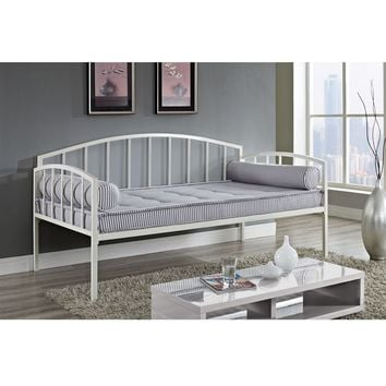 Twin Size White Metal Daybed