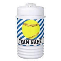 Royal Blue Fastpitch Softball Custom Team & Player Beverage Cooler