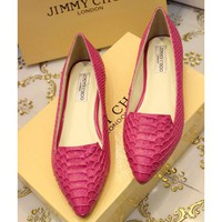 Jimmy Choo Women Fashion Pointed Toe Flats Shoes
