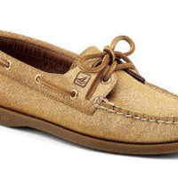 Sperry Top-Sider Women's Authentic Original Sparkle Suede 2-Eye Boat Shoe